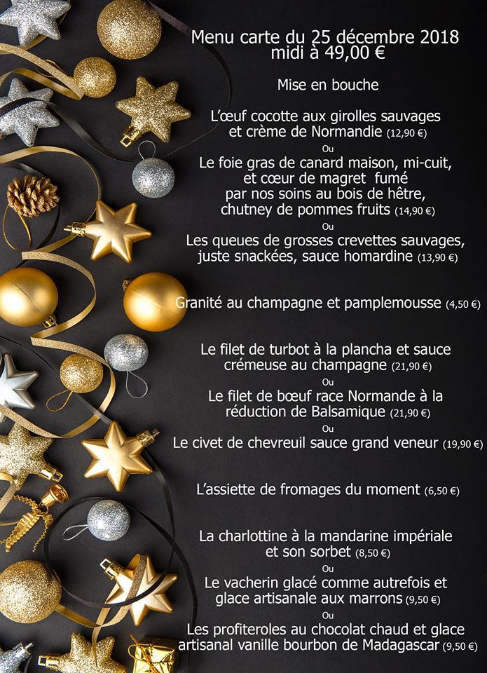 Decoration Pour Menu De Noel.Le Menu De Noel Restaurant Le College